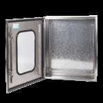 Stainless steel box transparent door